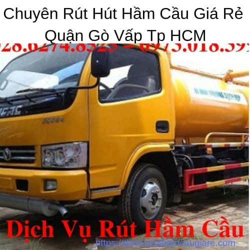Chuyên Rút Hút Hầm Cầu Giá Rẻ Quận Gò Vấp Tp HCM