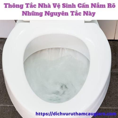 Nguyên tắc khi thông tắc nhà vệ sinh